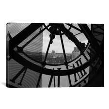 Photography Clock Tower in Paris Photographic Print on Canvas