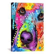 'Closeup Labrador' by Dean Russo Graphic Art on Canvas