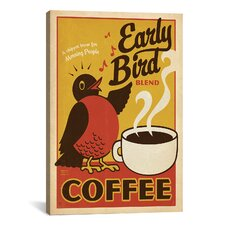 Early Bird Coffee by Anderson Design Group Vintage Advertisement on Canvas
