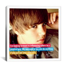 Justin Bieber Quote Canvas Wall Art