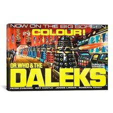 Dr. Who & The Daleks Vintage Movie Poster Canvas Print Wall Art
