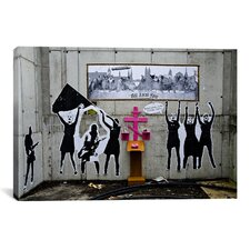 Street Art Dogs Last Supper Graffiti Graphic Art on Canvas