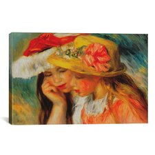 'Deux Soeurs (Two Sisters)' by Pierre-Auguste Renoir Painting Print on Canvas