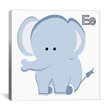Kids Art E is for Elephant Graphic Canvas Wall Art