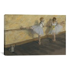 'Dancers Practicing at the Bar' by Edgar Degas Painting Print on Canvas
