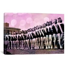 Miss America Competition 1943 Lineup Bubbles Memorabilia on Canvas