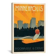 'Minneapolis, Minnesota' by Anderson Design Group Vintage Advertisement on Canvas