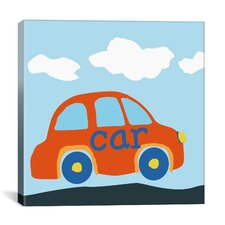 "Decorative Art ""Red Car"" Canvas Wall Art"