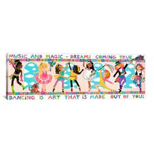 Kids Children 'Dancing is Art' Graphic Canvas Wall Art