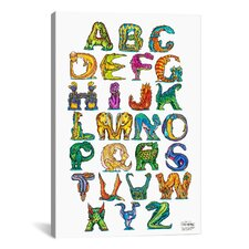 Dinosaur Alphabet by David Russo Graphic Art on Canvas