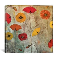 'Dancing Poppies' by Color Bakery Painting Print on Canvas