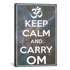 Keep Calm and Carry Om Textual Art on Canvas