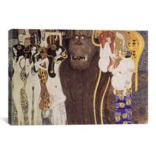 'Die Feindlichen Gewalten (The Hostile Forces)' by Gustav Klimt Painting Print on Canvas