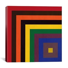 Modern Art Color Stacks Graphic Art on Canvas