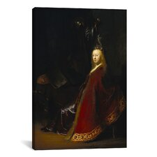 'Minerva' by Rembrandt on Painting Print Canvas