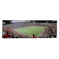 Panoramic Crowd in a Stadium, Sevilla FC, Estadio Ramon Sanchez Pizjuan, Seville, Spain Photographic Print on Canvas