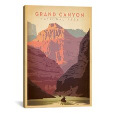 'Grand Canyon National Park' by Anderson Design Group Vintage Advertisement on Canvas