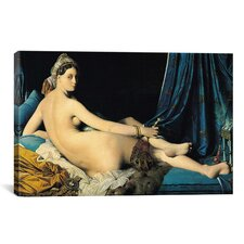 'Grande Odalisque' by Jean Auguste Ingres Painting Print on Canvas