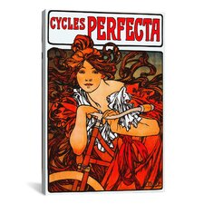 'Cycles Perfecta' by Alphonse Mucha Vintage Advertisement on Canvas