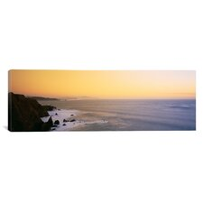 Panoramic Rock Formations in the Sea Pacific Ocean, San Francisco, California Photographic Print on Canvas