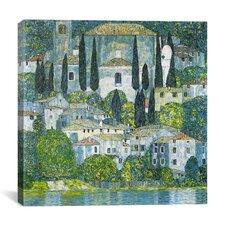 'Kirche in Cassone' by Gustav Klimt Painting Print on Canvas