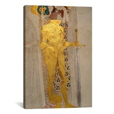 'Knight Detail from the Beethoven Frieze 1902' by Gustav Klimt Painting Print on Canvas