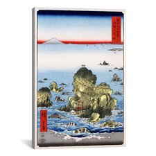 'Futamigaura in Ise Province, 1858' by Utagawa Hiroshige l Graphic Art on Canvas