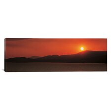 Panoramic Kenmare River at Sunset Ireland Photographic Print on Canvas