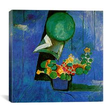 """Flowers and Ceramic Plate (1911)"" Canvas Wall Art by Henri Matisse"