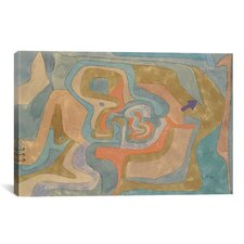 'Flying Away 1934' by Paul Klee Painting Print on Canvas
