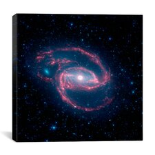 Coiled Creature of the Night NGC 1097 (Spitzer Space Observatory) Canvas Wall Art