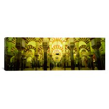 Panoramic La Mezquita Cathedral, Cordoba, Spain Photographic Print on Canvas