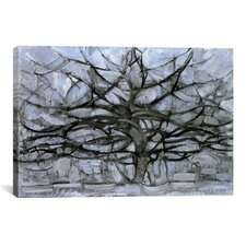 'Tree, 1912' by Piet Mondrian Painting Print on Canvas