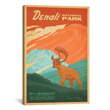 'Denali National Park' by Anderson Design Group Vintage Advertisement on Canvas
