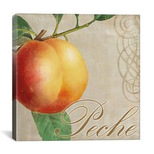"""Fruits Classique (Peach)"" Canvas Wall Art by Colors Bakery"