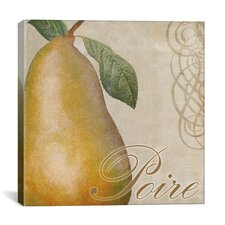 """Fruits Classique II (Pear)"" Canvas Wall Art by Color Bakery"