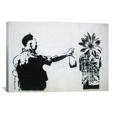 Street Art Flower Face Graphic Art on Canvas