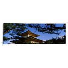 Panoramic Kinkaku-ji Temple, Kyoto City, Japan Photographic Print on Canvas