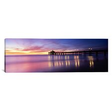 Panoramic Manhattan Beach Pier, San Francisco, California Photographic Print on Canvas
