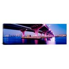 Panoramic Macarthur Causeway Biscayne Bay Miami Florida Photographic Print on Canvas