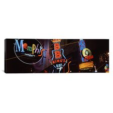 Panoramic Beale Street, Memphis, Tennessee Photographic Print on Canvas