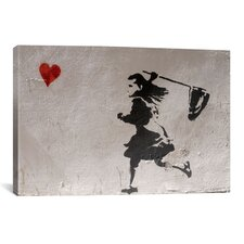 Street Art Love - Catch It If You Can Graphic Art on Canvas