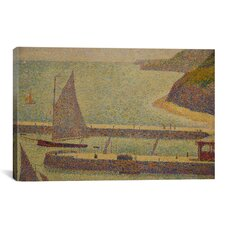 'Port En Bressin' by Georges Seurat Painting Print on Canvas