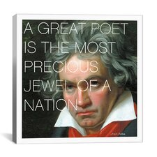 Ludwig Van Beethoven Quote Canvas Wall Art