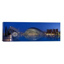 Panoramic 'Ciutat De Les Arts I Les Ciencies, Valencia, Spain' Photographic Print on Canvas