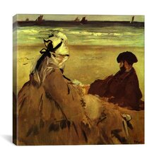 """On the Beach (Sur La Plage)"" Canvas Wall Art by Edouard Manet"