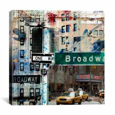 One Way Broadway by Luz Graphics Graphic Art on Canvas