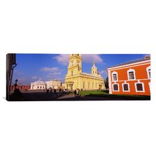 Panoramic Peter and Paul Cathedral, St. Petersburg, Russia Photographic Print on Canvas