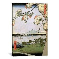 Ando Hiroshige 'One Hundred Famous Views of Edo 35' by Utagawa Hiroshige l Graphic Art on canvas