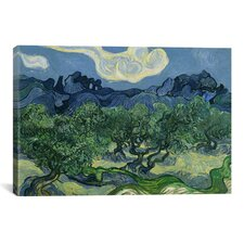 'Olive Trees with the Alpilles in the Background' by Vincent van Gogh Painting Print on Canvas